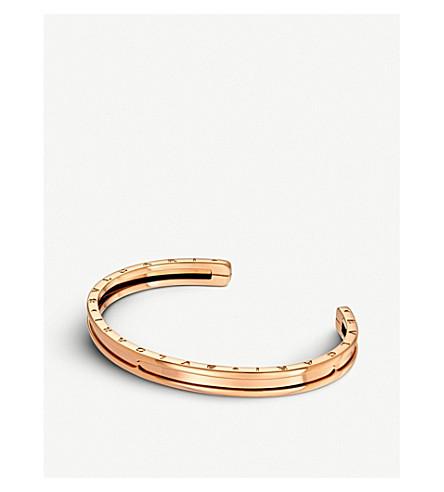 BVLGARI B.zero1 18kt pink-gold bracelet cuff