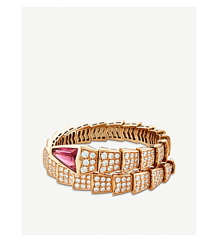 BVLGARI Serpenti 18kt pink-gold and diamond bracelet