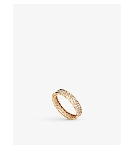 BVLGARI B.zero1 18kt pink-gold and diamond bangle