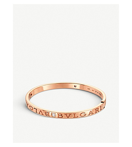 BVLGARI BVLGARI-BVLGARI 18kt pink-gold and diamond bangle