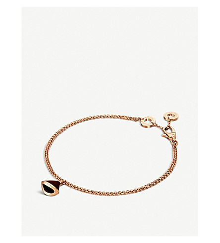 BVLGARI Divas' Dream 18kt pink-gold and carnelian bracelet