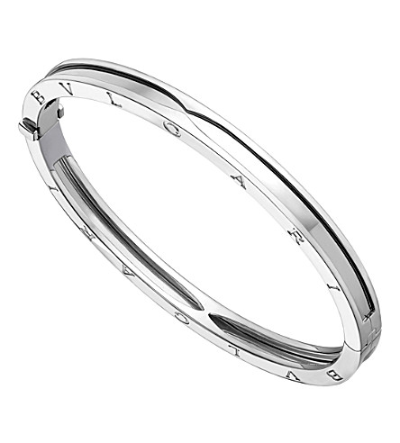 BVLGARI B.zero1 18kt white-gold bangle bracelet