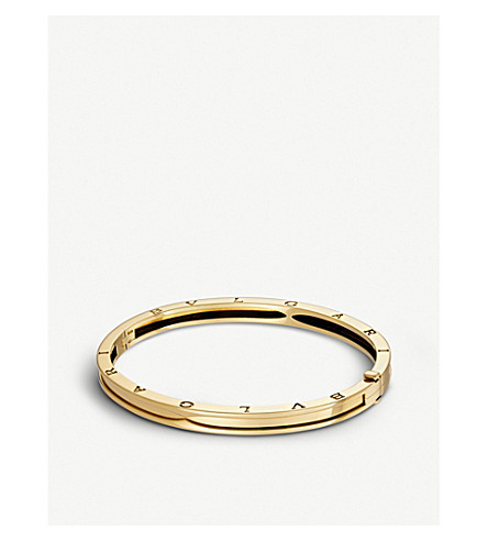 BVLGARI B.zero1 18kt yellow-gold bangle bracelet