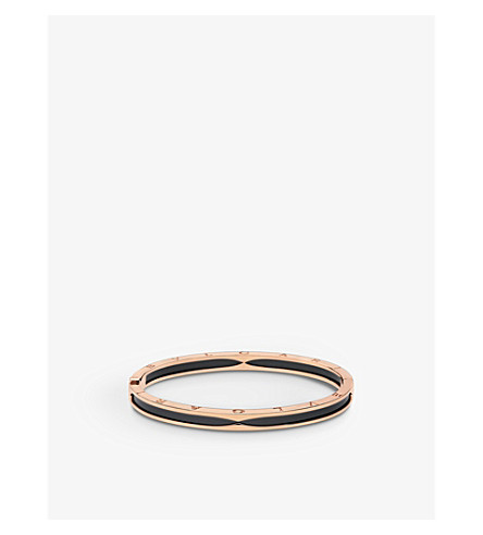 BVLGARI B.zero1 18kt pink-gold bangle bracelet