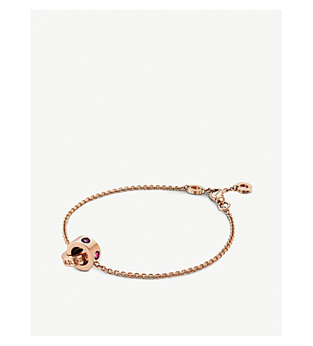 BVLGARI Roman Sorbets 18kt pink-gold and gemstone bracelet