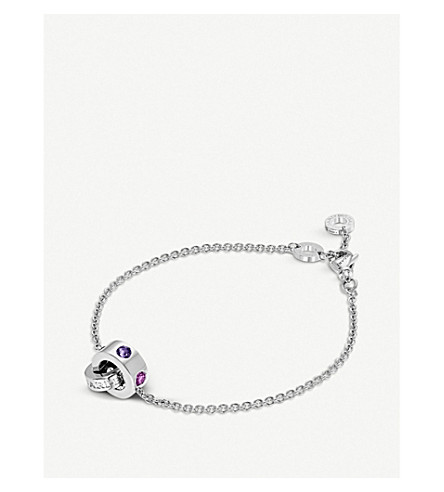 BVLGARI Roman Sorbets 18kt white-gold and gemstone bracelet