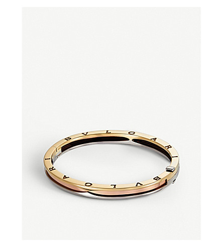 BVLGARI B.zero1 pink, yellow and white bangle