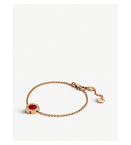 BVLGARI Bvlgari Bvlgari 18ct pink-gold and carnelian bracelet