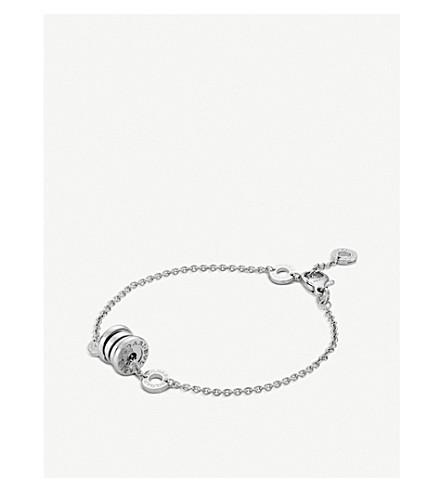 BVLGARI B.Zero1 mini 18ct rose-gold and black ceramic bracelet
