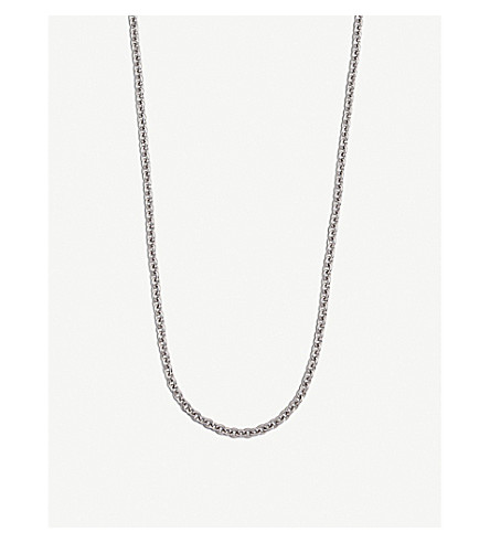 BVLGARI Catene 18kt white-gold charm necklace