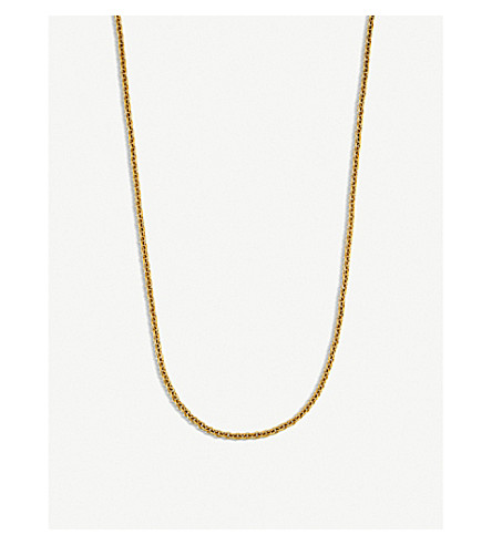 BVLGARI Catene 18kt yellow-gold charm necklace