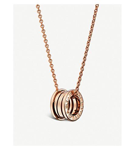 BVLGARI B.zero1 18kt pink-gold pendant necklace