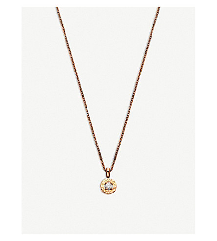 BVLGARI BVLGARI-BVLGARI 18ct pink-gold and diamond necklace