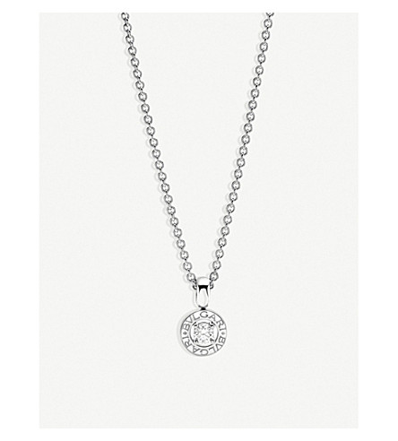 BVLGARI BVLGARI-BVLGARI 18kt white-gold and diamond necklace