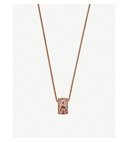 BVLGARI Parentesi 18kt pink-gold round pendant