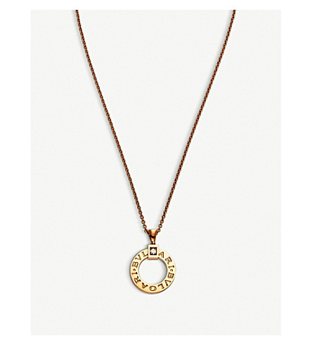 BVLGARI Bvlgari Bvlgari 18kt pink-gold and diamond necklace