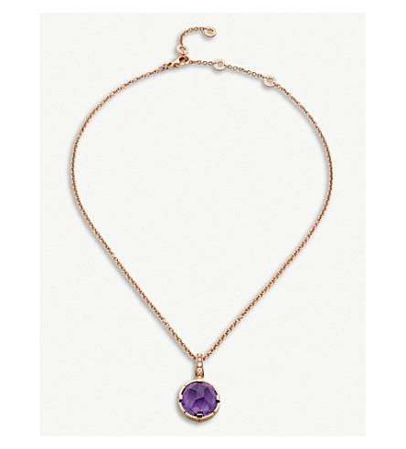 BVLGARI Parentesi Cocktail 18kt pink-gold and diamond necklace