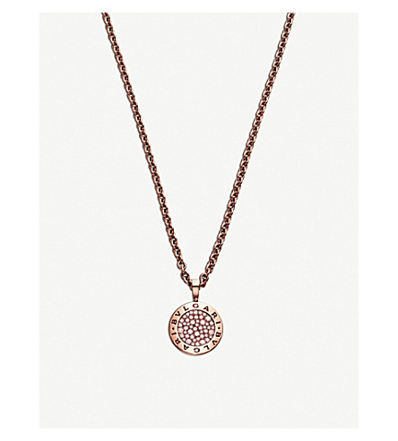 BVLGARI BVLGARI-BVLGARI Reva 18kt pink-gold and diamond necklace