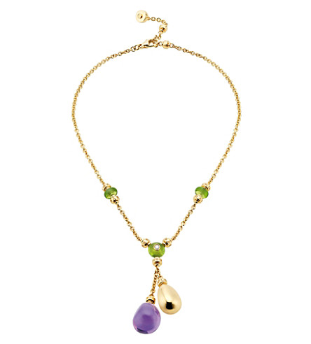 BVLGARI Sassi Mediterranean Eden 18ct yellow-gold necklace