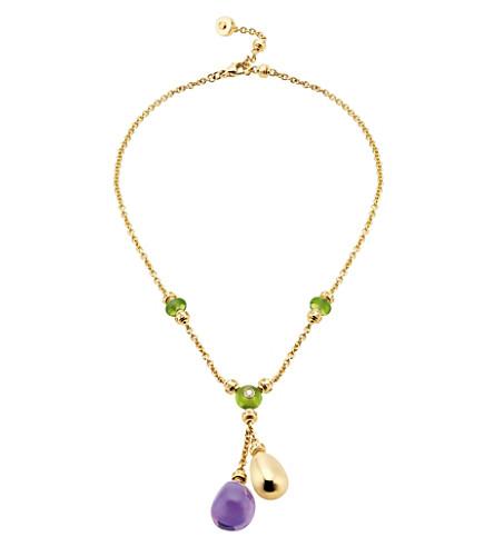 BVLGARI Sassi Mediterranean Eden 18ct yellow-gold necklace