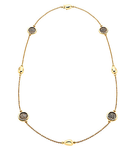 BVLGARI Monete 18kt yellow-gold sautoir necklace