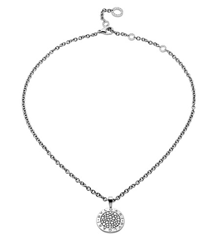 BVLGARI BVLGARI-BVLGARI Reva 18kt white-gold and diamond necklace