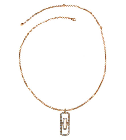 BVLGARI Parentesi 18kt pink-gold and pavé diamond necklace