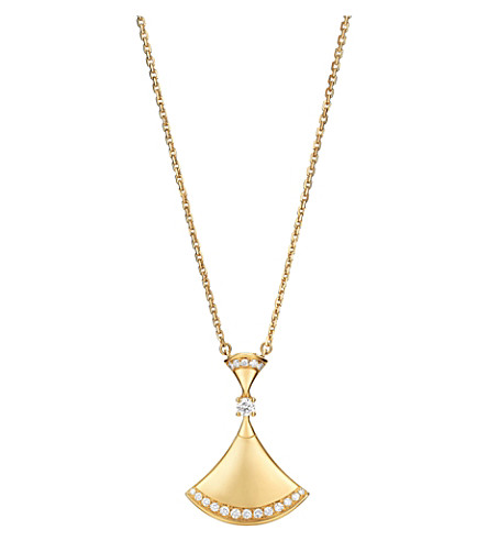 BVLGARI Divas' Dream 18kt yellow-gold and diamond pendant necklace