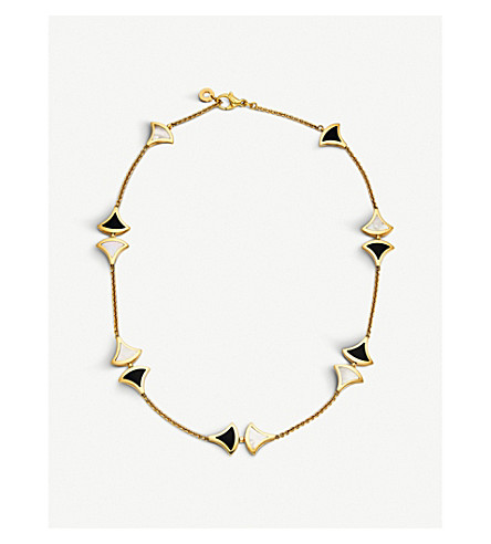 BVLGARI Divas' Dream 18kt pink-gold, mother-of-pearl and black onyx necklace