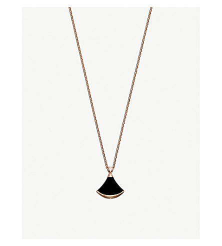 BVLGARI Divas' Dream 18kt pink-gold and onyx necklace