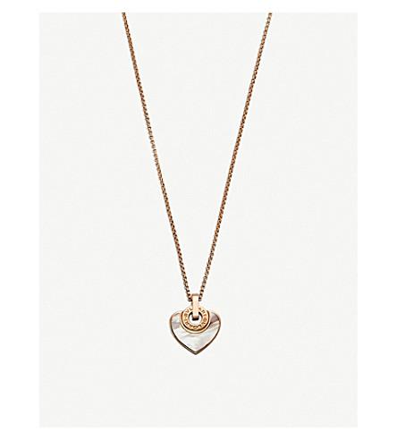 BVLGARI BVLGARI-BVLGARI 古欧莱18kt 粉红色金色和珍珠项链