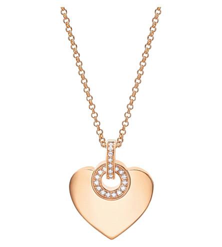 BVLGARI BVLGARI∙BVLGARI 古欧莱18kt 粉红色金色和铺钻石项链