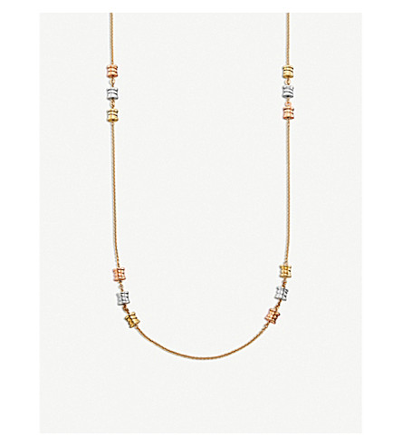 BVLGARI B.zero1 Sautoir 18ct pink, white and yellow-gold necklace