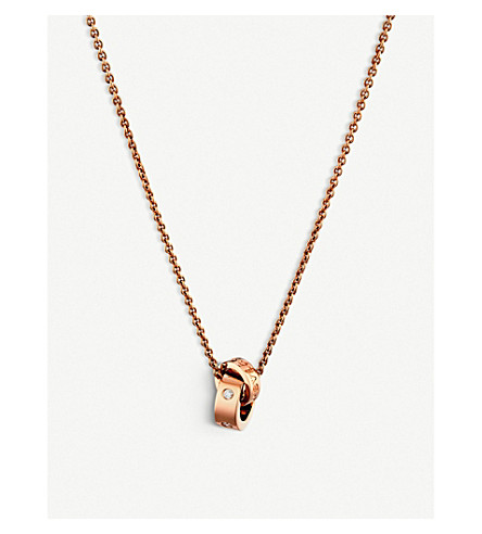 BVLGARI 罗马冰糕 18 ct 粉色黄金和钻石项链