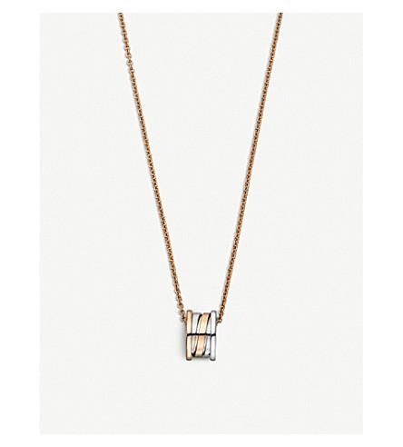 BVLGARI B.Zero1 18ct rose and white-gold necklace