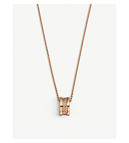 BVLGARI B.Zero1 18ct rose-gold and diamond necklace