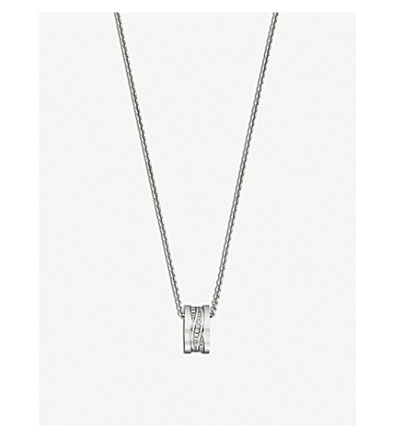BVLGARI B.Zero1 18ct white-gold and diamond necklace
