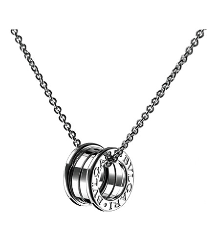 Bvlgari bzero1 18kt white gold pendant selfridges previousnext mozeypictures Image collections