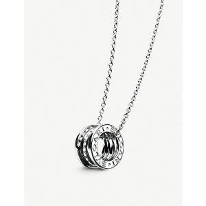 B.zero1 18kt white-gold and diamond pendant
