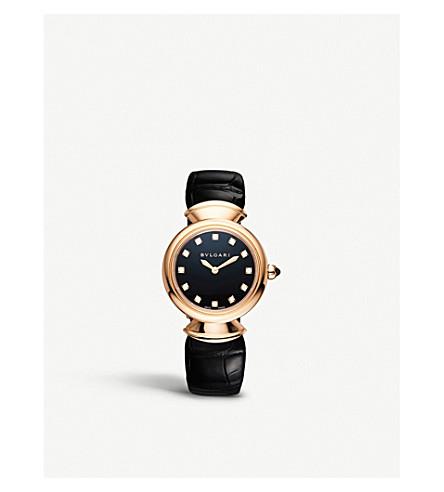 BVLGARI Divas' dream diamond, rubellite and alligator watch