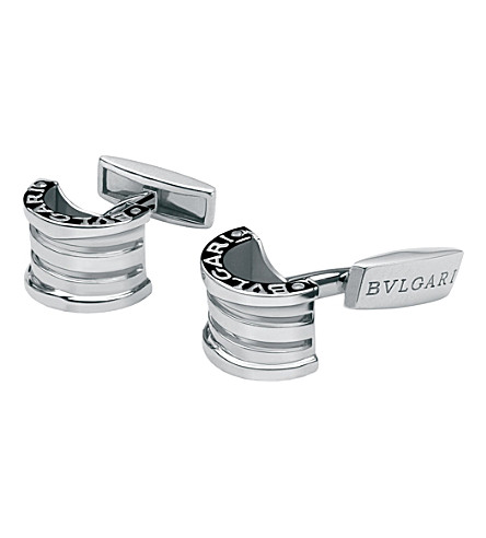 BVLGARI Sterling silver cufflinks