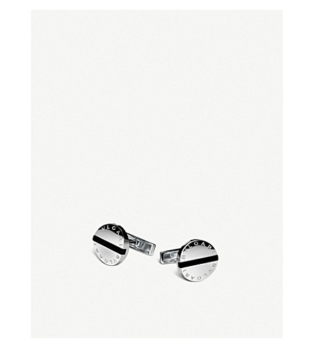 BVLGARI Bvlgari-Bvlgari sterling silver and black onyx cufflinks