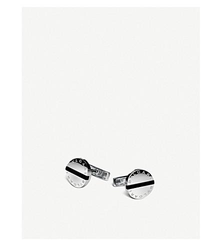BVLGARI Bvlgari-Bvlgari sterling silver and black onyx cufflinks