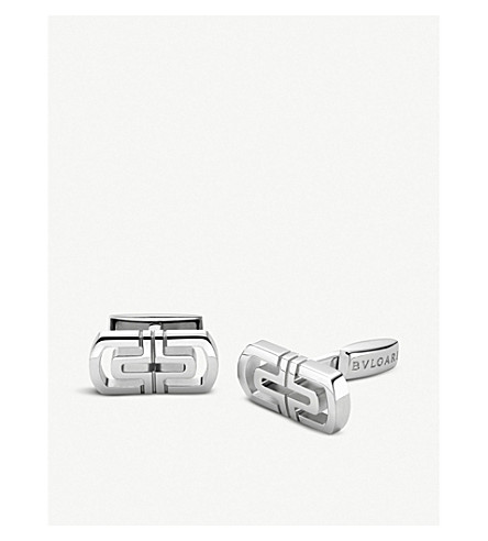 BVLGARI Parentesi sterling silver cufflinks