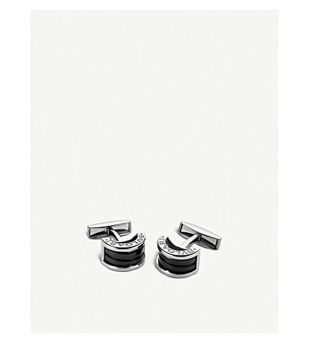 BVLGARI B.zero1 sterling silver cufflinks