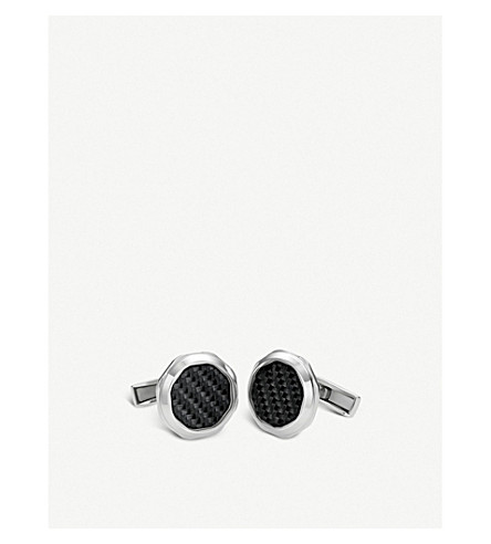 BVLGARI Octo sterling silver cufflinks
