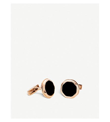 BVLGARI Octo 18kt pink-gold cufflinks