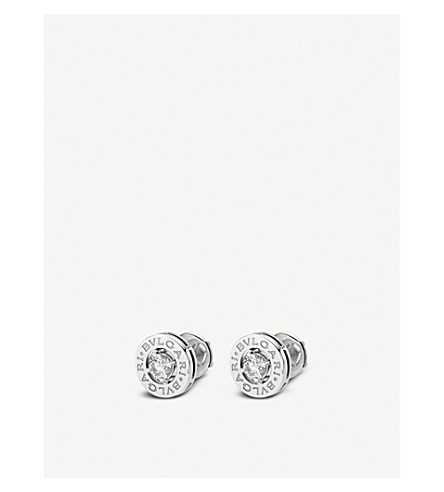 BVLGARI BVLGARI-BVLGARI 18kt white-gold and diamond earrings