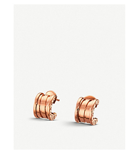 BVLGARI B.zero1 18kt pink-gold hoop earrings