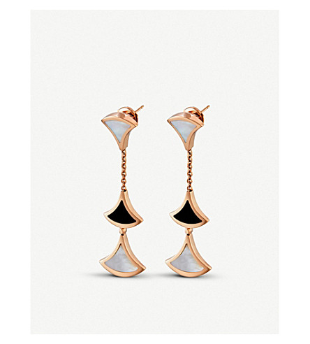 BVLGARI Divas' Dream 18kt pink-gold earrings